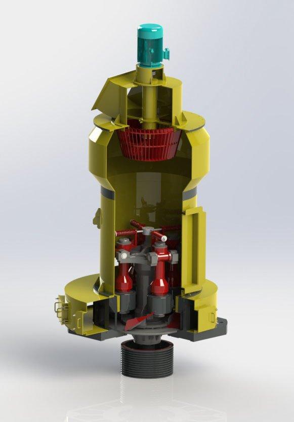 新型 高壓磨粉機 產量高 設備穩定的圖片