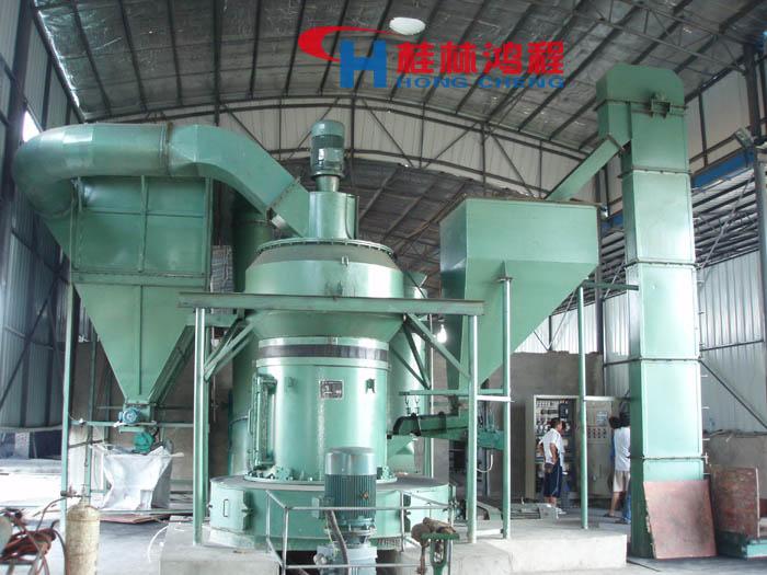 葉臘石磨粉機生產現場
