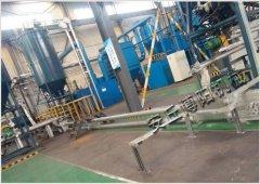 钾长石粉管链输送机,管链式提升机生产现场的图片