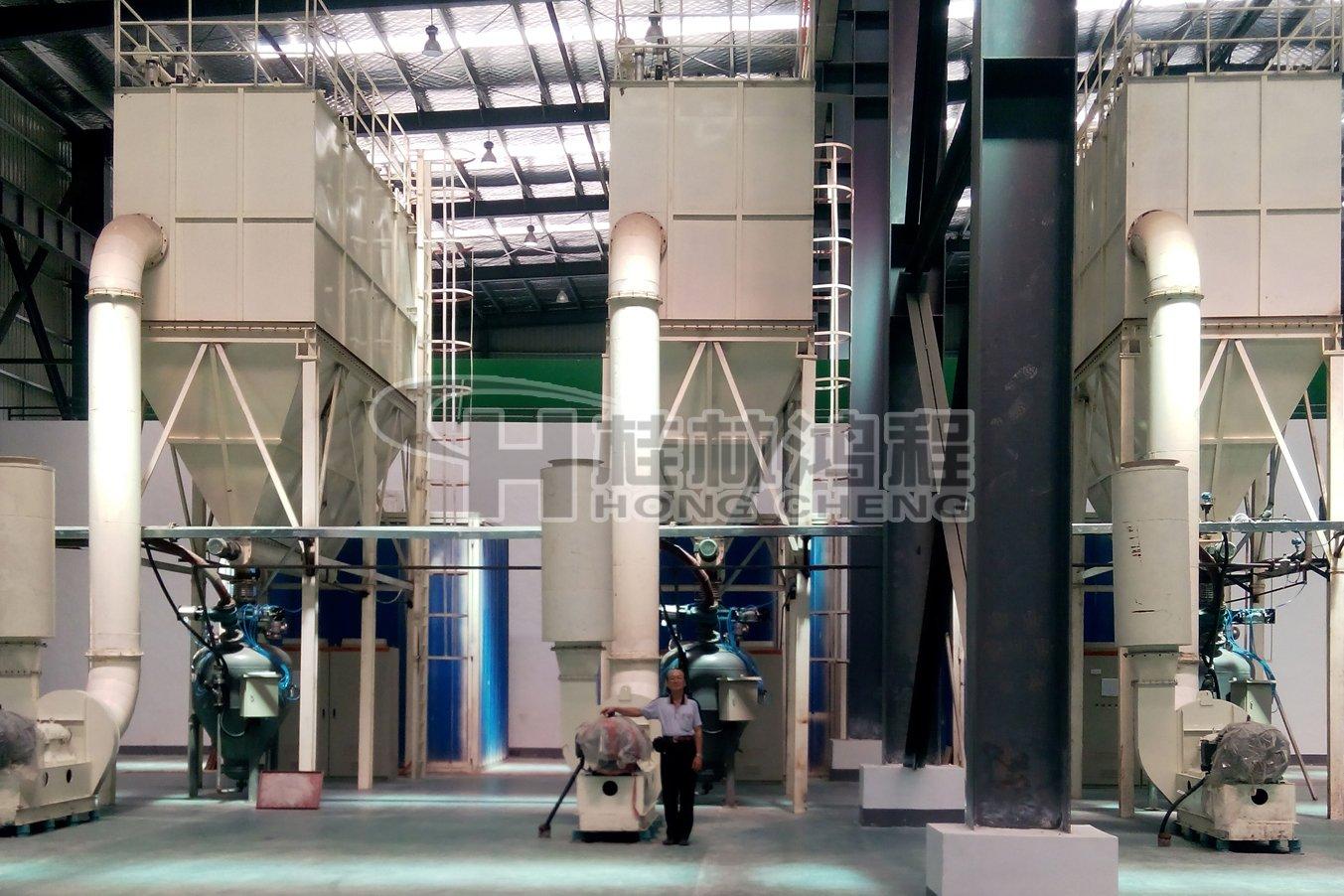 桂林鸿程HCH980超细磨粉机环辊磨机叶腊石超细磨图片