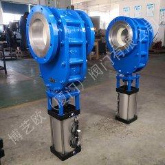 气力输送专用耐磨气动陶瓷双闸阀的图片