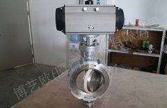 气力输送下料出料专用耐磨陶瓷蝶阀的图片