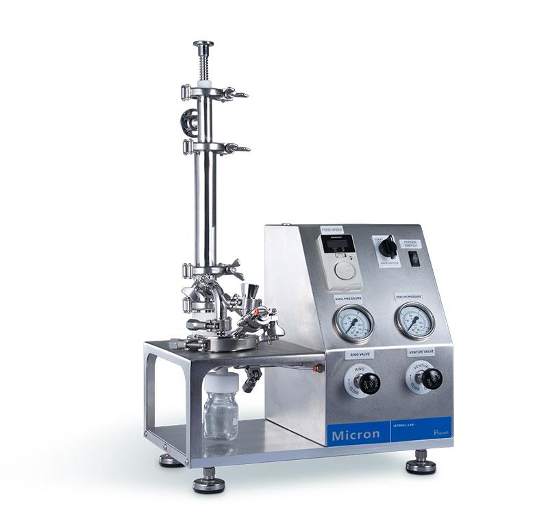 Jet mill lab实验型超微粉气流粉碎机的图片