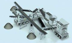 机械破碎机制砂生产线的图片