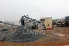 加工建筑垃圾移动破碎站的图片