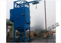 粉煤灰吨包卸料机 不锈钢吨袋拆包机方案设计的图片