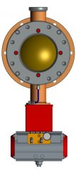 复合型柔性金属半球阀的图片