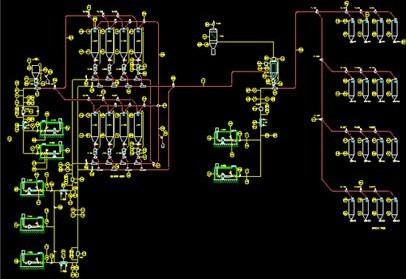 树脂生产装置典型颗粒输送、掺混、储存、包装单元 的图片
