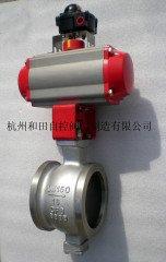 气动V型球阀的图片