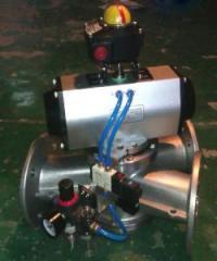 粉体气动不锈钢三通换向器的图片