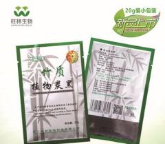 药品级竹质植物炭黑的图片