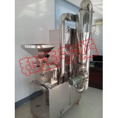 中药材粉碎、磨粉专用设备 食品级内外不锈钢五谷杂粮细粉磨粉机的图片