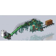 桂林鴻程全自動包裝推垛生產線石灰石、錳礦石包裝機械生產線的圖片