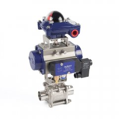 气动对焊接球阀  三片式对焊接球阀 三片式球阀
