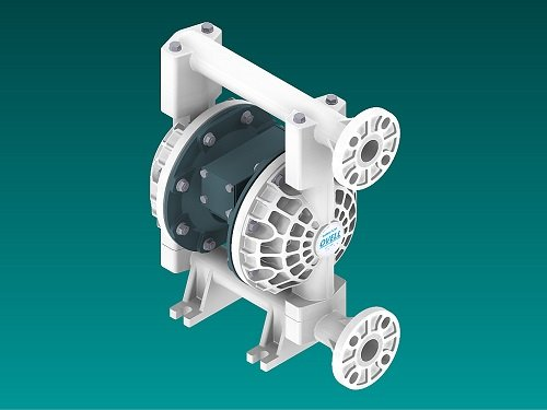 "OVELL(奧銳力)1"" 非金屬氣動隔膜泵圖片"