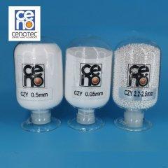 0.05mm 氧化锆微珠 进口韩国赛诺赛诺氧化锆珠的图片