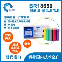 BR18650 锂氟化碳一次性圆柱电池 -40℃耐低温