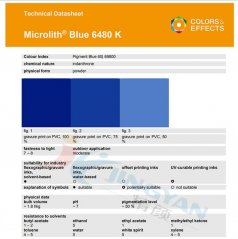 巴斯夫BASF微高力Microlith藍6480K納米有機顏料汽巴A3R-K藍色粉