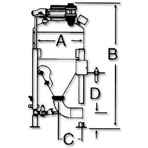 DPG-B系列發送罐規格示意圖