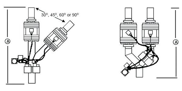 夾式分流閥規格示意圖