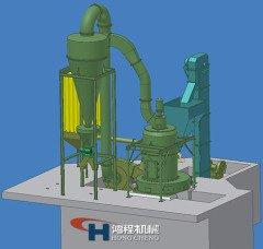 HCQ1290小型雷蒙磨粉机无尘粉碎机矿山机械