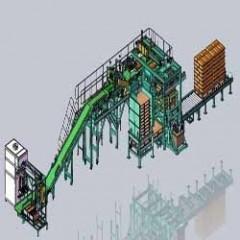 600~750袋全自动包装机生产线包装推垛生产线